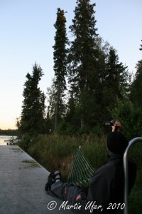 Ronny beim Bald Eagle Watching am Kenai River